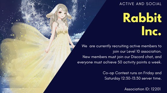 Rabbit Inc is looking for a few more active members - Nikki Group Finder